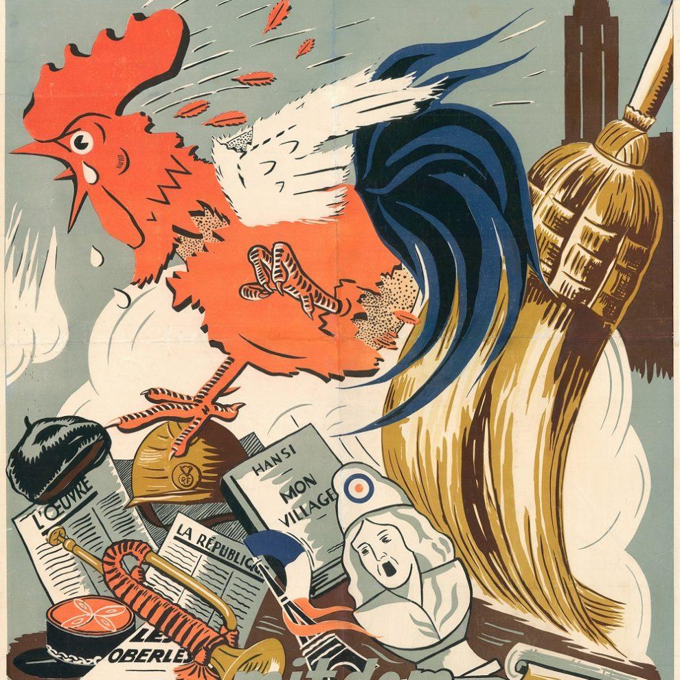 Affiche nazi allemagne france