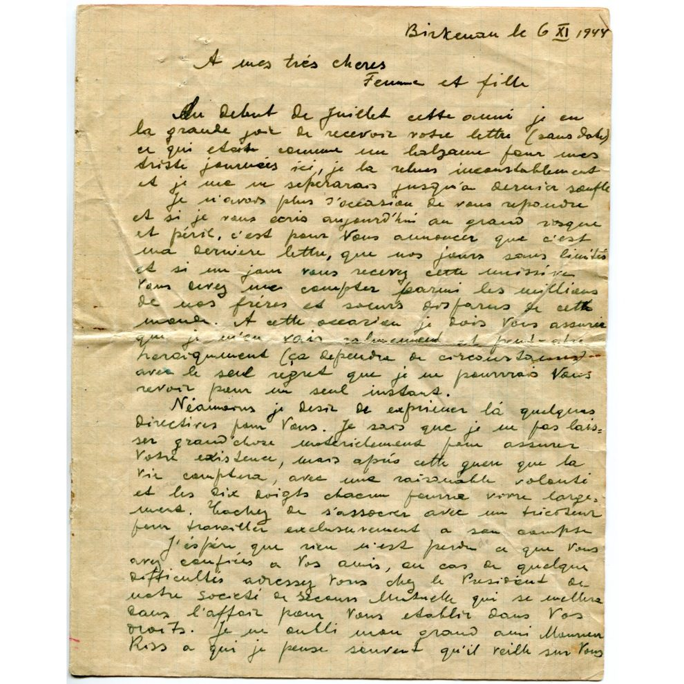 lettre Sonderkommando